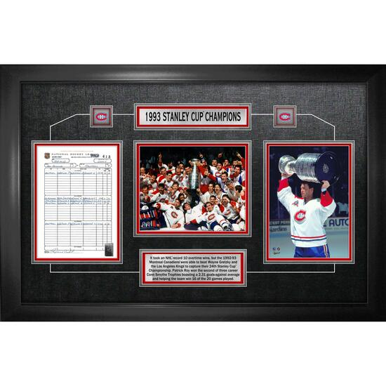 Frameworth Montreal Canadiens 1993 Stanley Cup Champions - 25in.x36in.