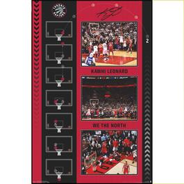 "Kawhi Leonard ""The Shot"" Toronto Raptors Plaque - 34in."