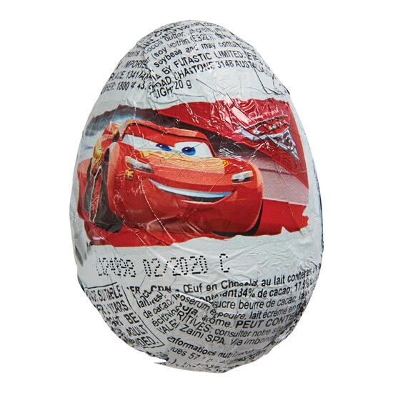 Disney Cars Chocolate Eggs - 20g
