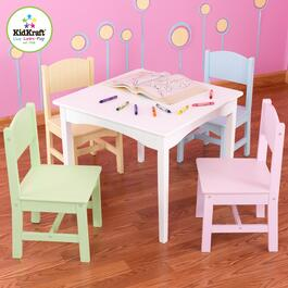 KidKraft Nantucket Table and 4 Chair Set - Pastel