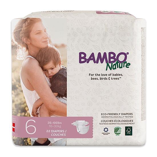 Bambo Nature Size 6 Baby Diapers 6 x 22pk.