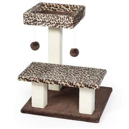 Prevue Leopard Terrace Dual Lounging Platforms with Scratching Post