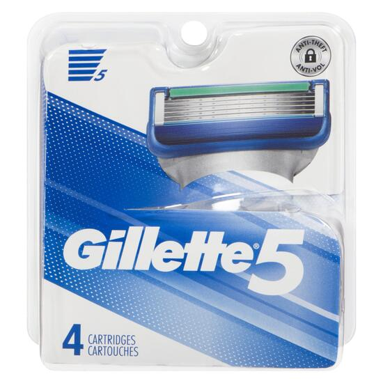 Gillette 5 Men's Razor Cartridges Refills - 4pk.