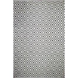 Avocado Décor Grey Dhurrie Lozenge Rug - 5.2ft. x 7.5ft.