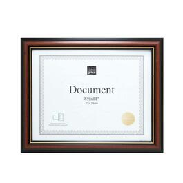Kiera Grace Kylie Document Frame, Set of 12 - Brown with Gold Border