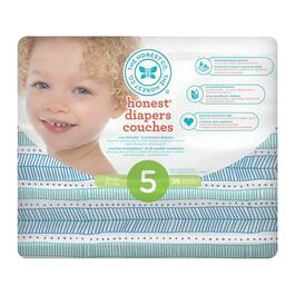 The Honest Company Teal Tribal Patterned Diapers Size 5 - 100pk.