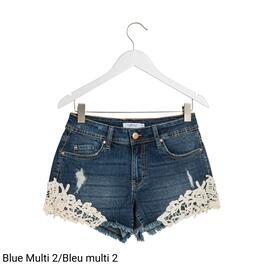 mySTYLE Women's Crochet Denim Shorts - 4-14