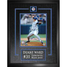 Duane Ward Signed Toronto Blue Jays Laser Engraved Framed Photo - 18in.x22in.
