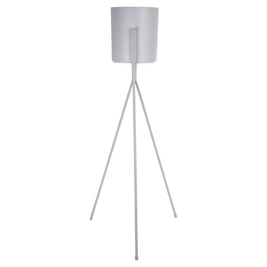 Truu Design White Floor Planter with Stand - 32in.