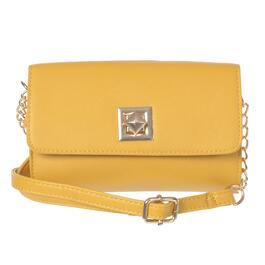 NICCI Yellow Small Crossbody Bag with Turnlock