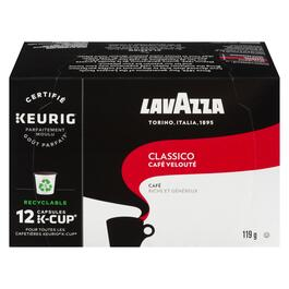 Lavazza Coffee Classico Medium Roast K-Cup Pods 12pk. - 119g