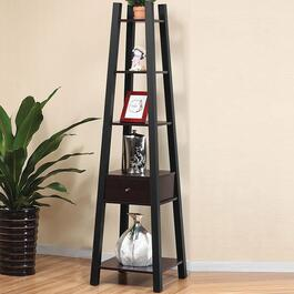 Brassex Dark Cherry 4-Tier Display Shelf