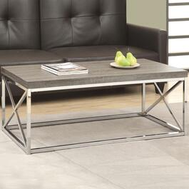 Monarch Specialties Inc. Chrome Coffee Table - Dark Taupe
