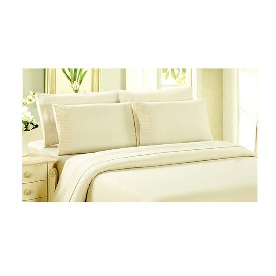 Bamboo Living Eco Friendly Egyptian Comfort 6 Piece King Sheet Set - Ivory