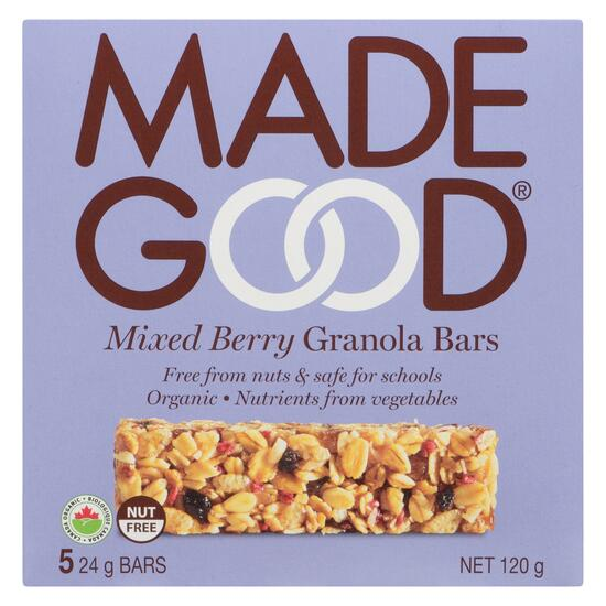 Made Good Mixed Berry Granola Bars 5pk. - 120g