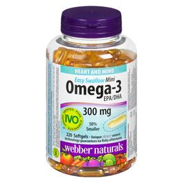 Webber Naturals Omega-3 Mini Easy Swallow 300 mg - 220 Softgels