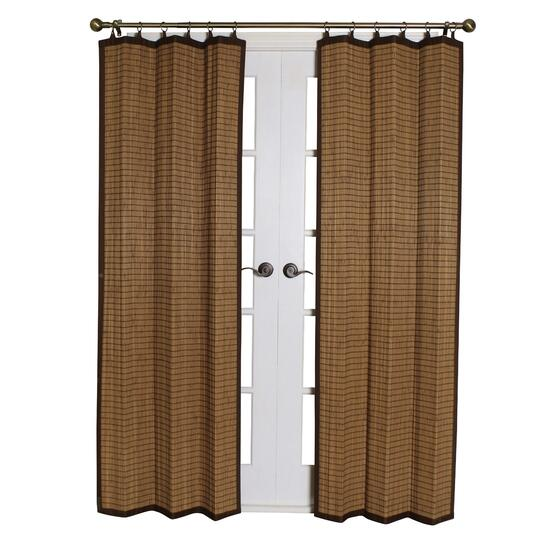 Versailles Bamboo Curtain Ring Top Panel - 84in.