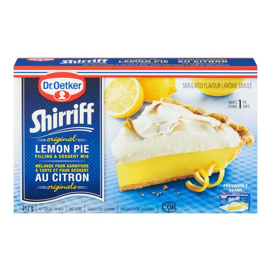 Dr. Oetker Original Shirriff Lemon Pie Filling and Dessert Mix - 212g