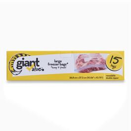 Giant Value Gallon Freezer Bags - 15pk.