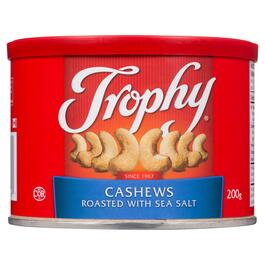 Trophy Roasted Cashews with Sea Salt - 200g