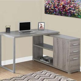 Monarch Specialties Corner Computer Desk - Dark Taupe