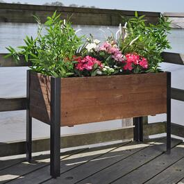 Grapevine Tall Urban Garden Recycled Wood Planter Box