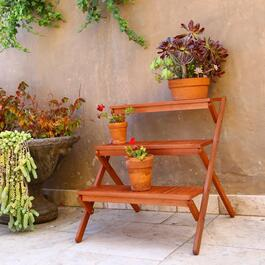 Vifah Malibu Outdoor Patio 3-layer Garden Plant Stand