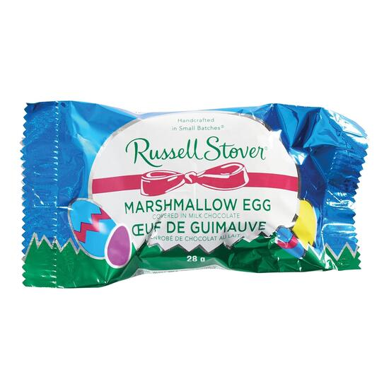 Russell Stover Marshmallow Egg Covered in Milk Chocolate - 28g