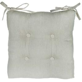 Virginia Ivory Chair Pads 4pc. - 18in.