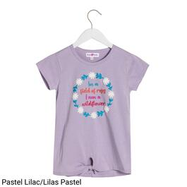 BELLA & BIRDIE Girls Graphic Knot Front Tee - S-XL (7-16)