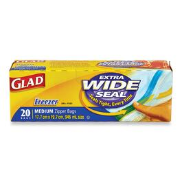 Glad Freezer Medium Zipper Bags - 20pk.