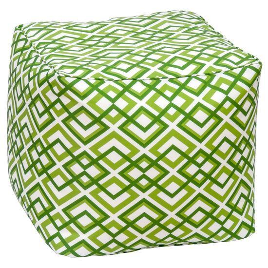 Henryka Green Outdoor Square Pouf - 18in.