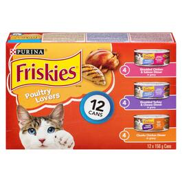 Purina Friskies Poultry Lovers Cat Food - 12pk.