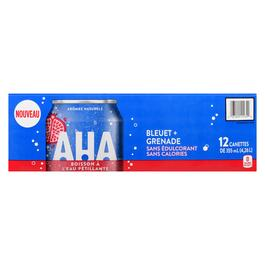 AHA Blueberry and Pomegranate Sparkling Water 12pk. - 355ml