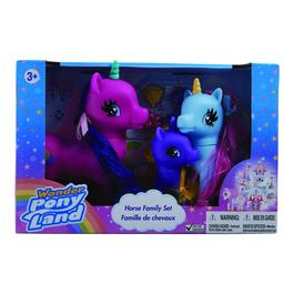 Wonder Pony Land Unicorn Family Set - 3pc.