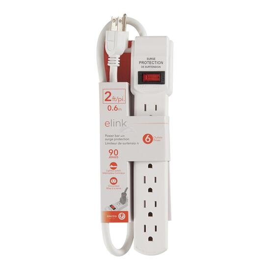 elink Power Bar with Surge Protection