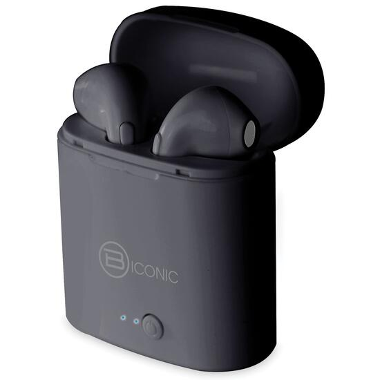 B-iconic Unleash Black Wireless Bluetooth Earbuds with Charging Case