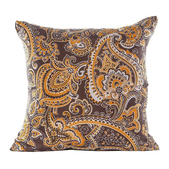 Gouchee Design Yellow Paisley Cushion - 18in.