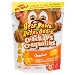 Bear Paws Baked Cheddar Snack Crackers - 180g