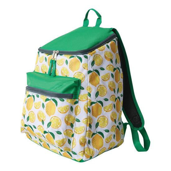 24 Cans Printed Backpack Cooler