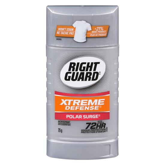 Right Guard Xtreme Defense Surge Anti-Perspirant - 73g