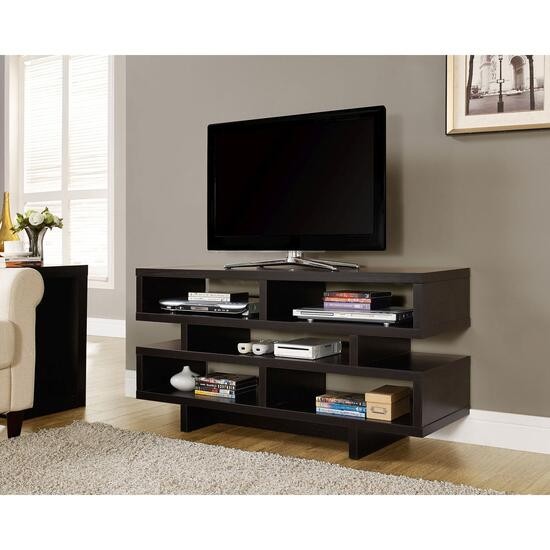 Monarch Specialties Inc. TV Stand - Cappuccino