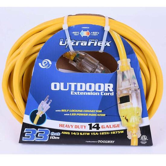 Ultraflex SJTW 14/3 Extension Cord - 10m