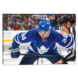 Auston Matthews Toronto Maple Leafs Face-Off Canvas - 20in.x29in.
