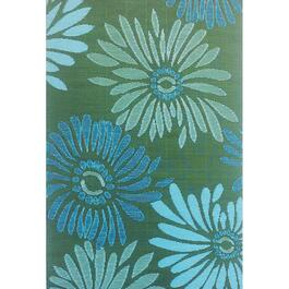 Mad Mats Daisy Indoor/Outdoor Carpet - Aqua/Green