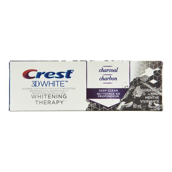 Crest 3D White Charcoal Whitening Toothpaste - 90ml