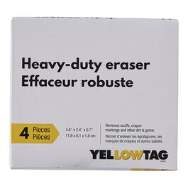 Yellowtag Heavy-duty Eraser - 4pk.
