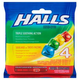 Halls Mentho-Lyptus Assorted Flavours Cough Tablets - 4pk.