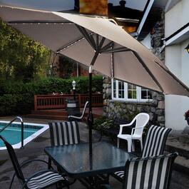 Sunbeam Solar Aluminum Patio Umbrella - 9ft.