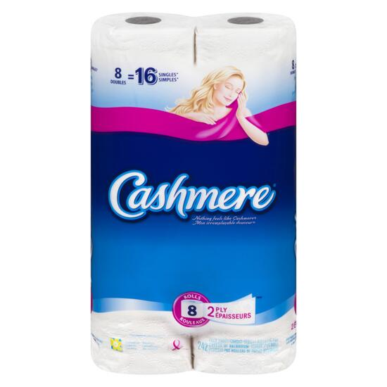 Cashmere Double Roll Bathroom Tissue - 8pk.